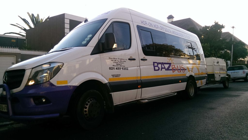 Baz Bus is an Hop-on Hop-off backpacker bus in South Africa.