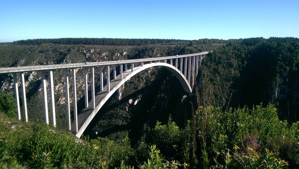 The highest Bungee Jumping Bridge in the World is Bloukrans Bridge on the Garden Route in South Africa. The adrenaline kick for adrenaline junkies and those looking for an adventure in the Western Cape.