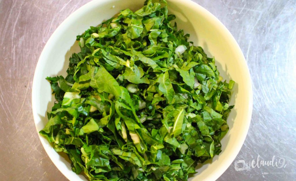 This is spinach, which South Africans serve on the side.