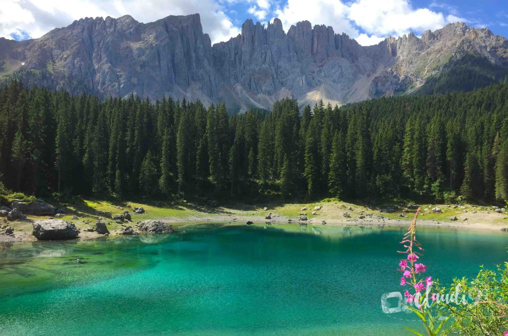This is Lake Carezza in South Tyrol Italy.