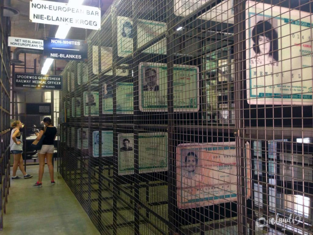This is inside the Apartheid museum in Johannesburg South Africa.