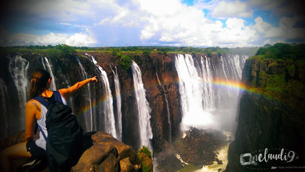 This is Victoria Falls in Zimbawe, a mighty waterfall.