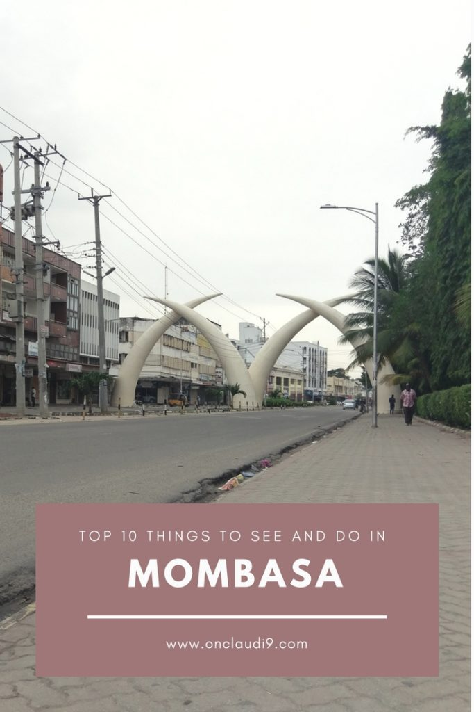 These are the Famous Elephant Tusks in Moi Avenue in Mombasa.