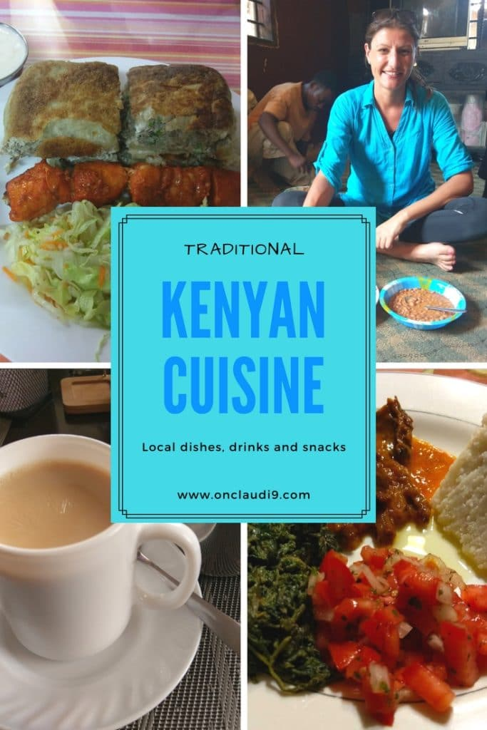 These are different dishes, snacks and drinks of the Kenyan cuisine.