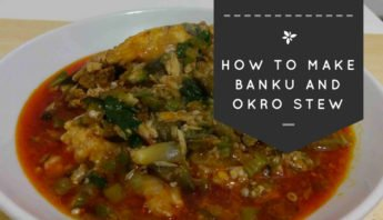 This is Banku and Okro Stew, a traditional Ghanaian dish.