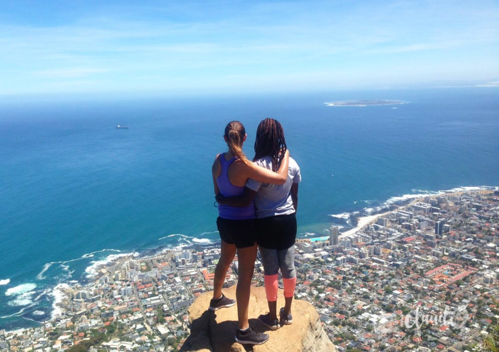 This is the view from Lions Head Cape Town.