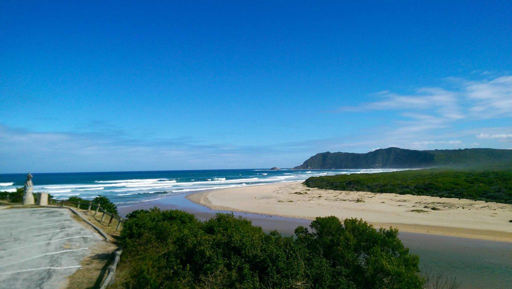 This is the beach in Sedgefield, Garden Route South Africa.