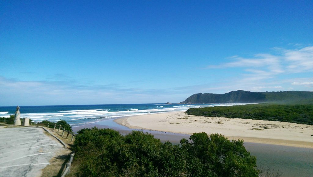 When traveling the Garden Route in South Africa you should stop at the beach of Sedgefield in Western Cape.