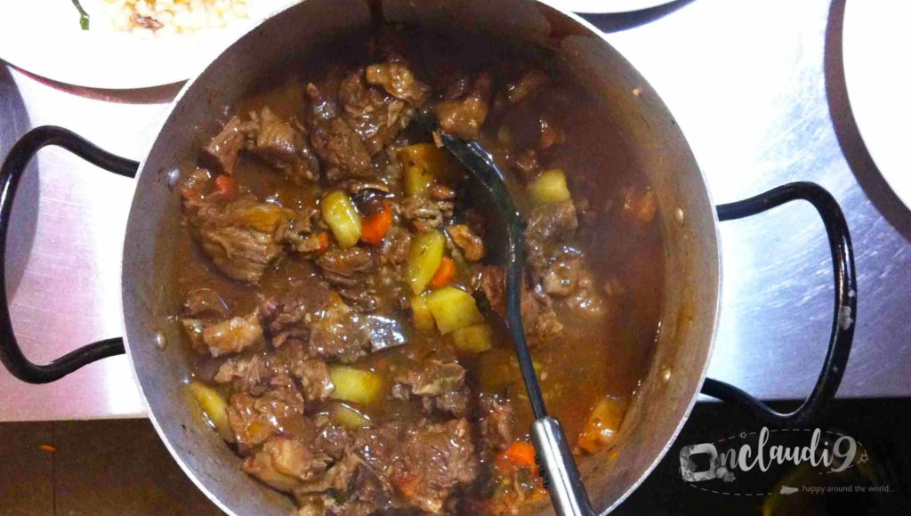 This is beef stew, a traditional South African dish.