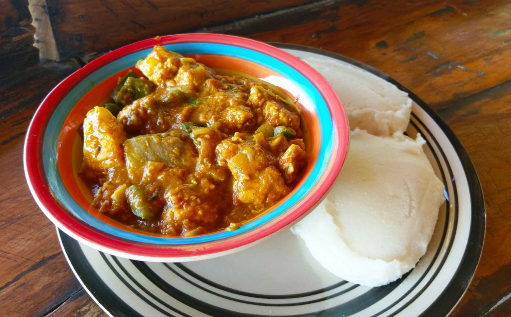 This is Fosh Curry which is a traditional Malawian dish.