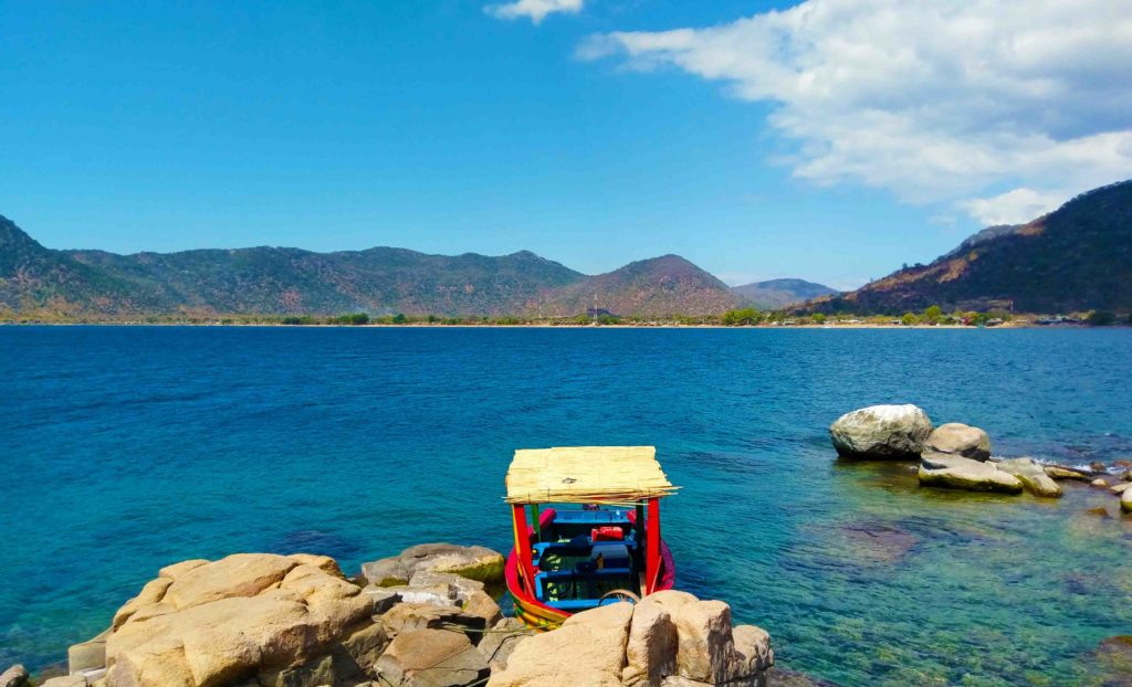 This is Lake Malawi at Cape Maclear, a peninsula in the south of Malawi.