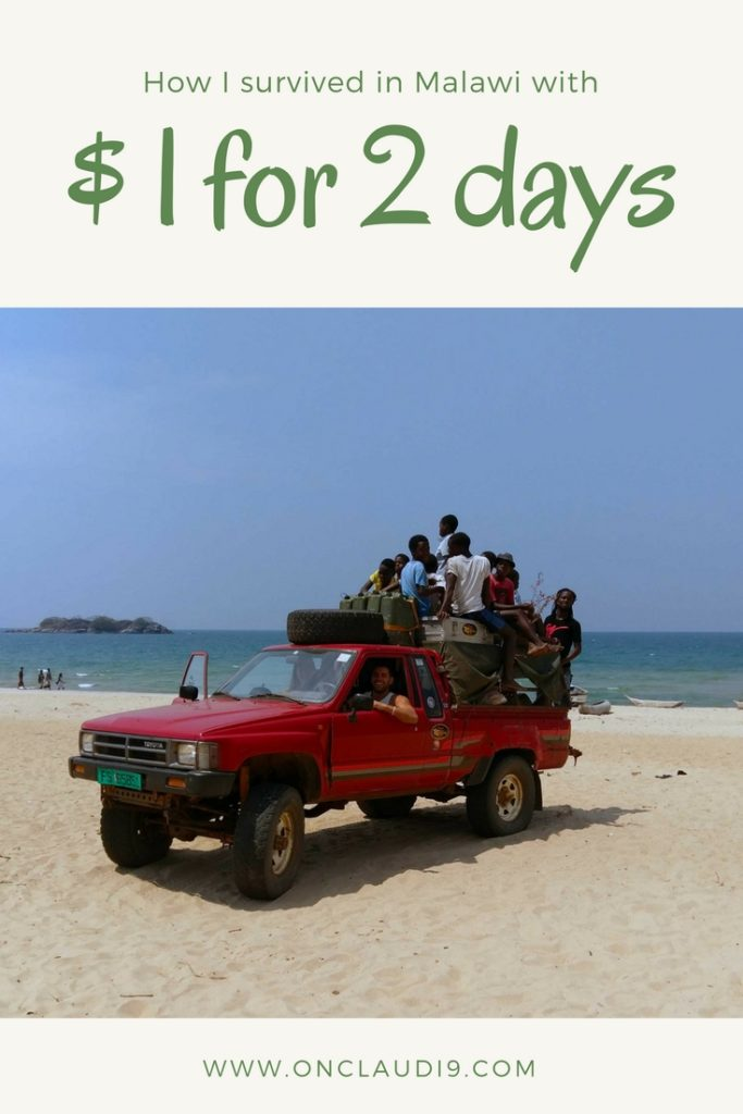 This is a off road car on the beach of Kande Beach in Malawi.