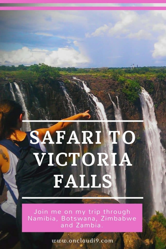 From Windhoek to Victoria Falls in Zimbabwe.