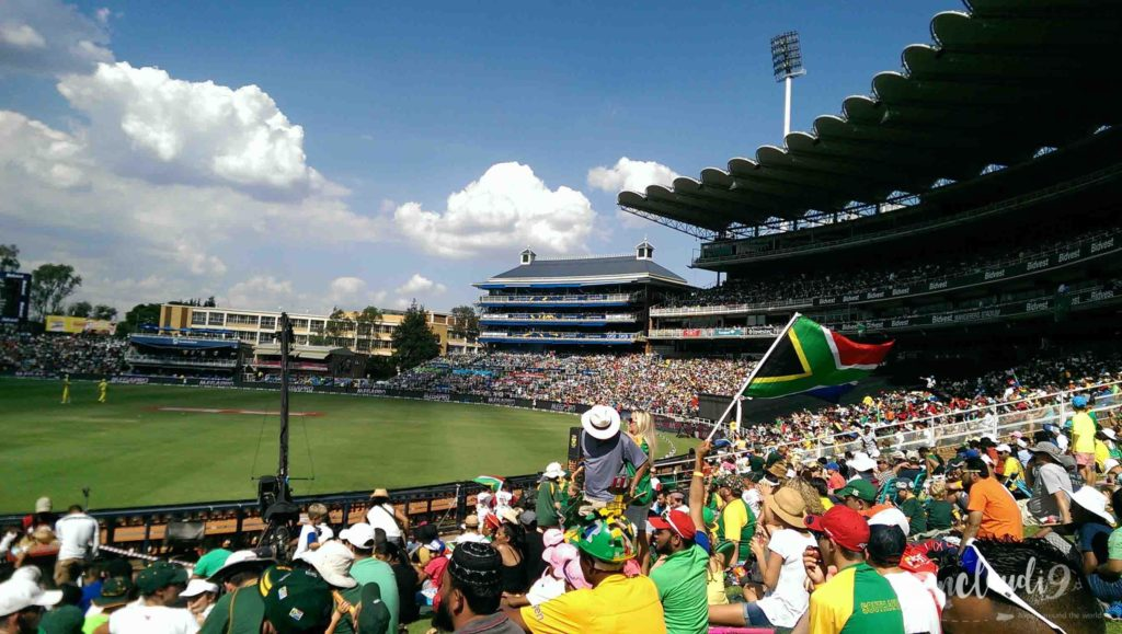 The This is Bidvest Wanderers Stadium in Johannesburg.