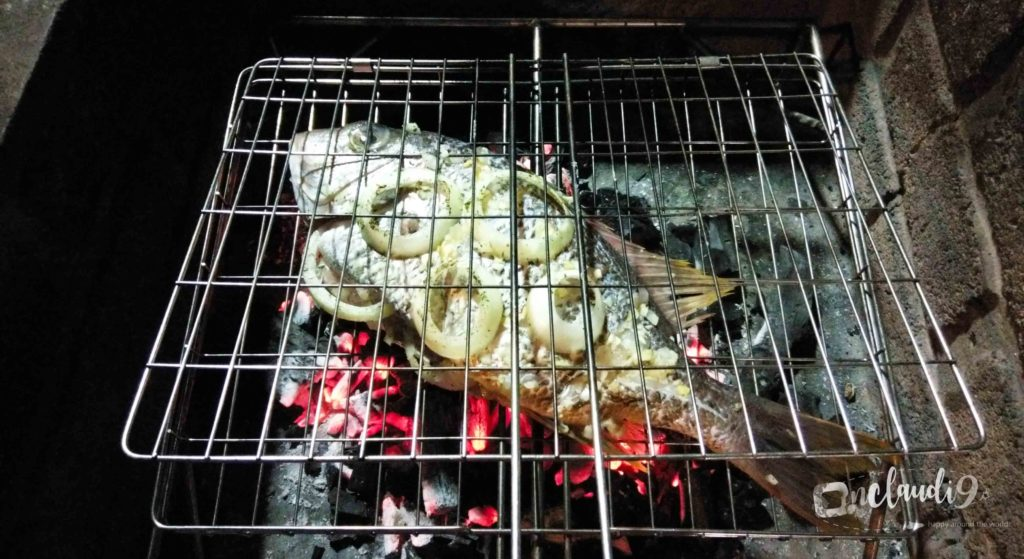 This is a fish on a Braai or BBQ.